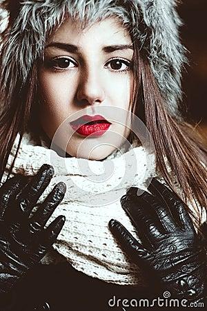 Free Beautiful Winter Portrait Royalty Free Stock Photos - 49056188