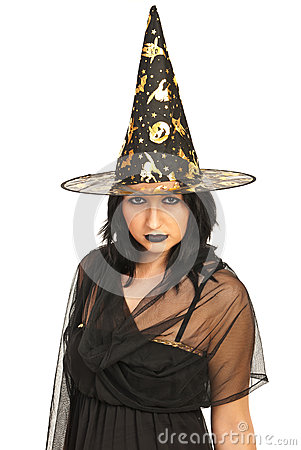 Beautiful witch with hat