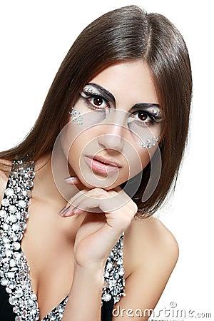 Beautiful woman with art make up