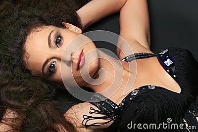 Beautiful woman. Attractive brunette