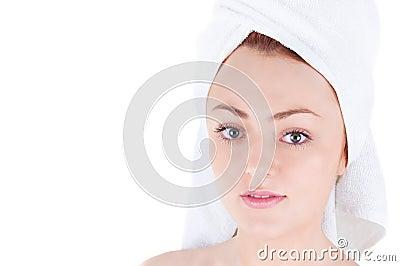 Beautiful woman after bath