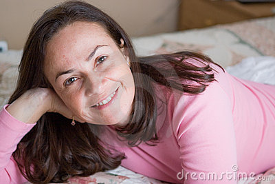 Beautiful woman in the bedroom