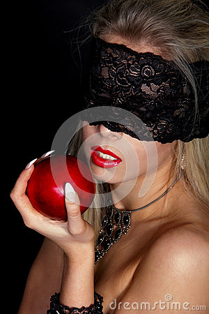 Beautiful Woman with Black lace Stock Photo