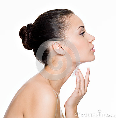 Free Beautiful Woman Cares For The Neck Royalty Free Stock Photos - 27249238