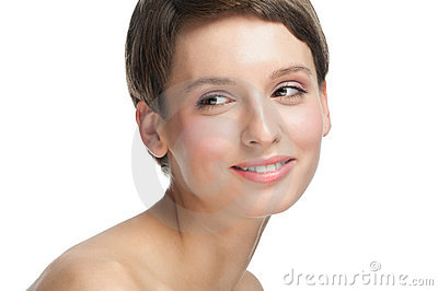 Beautiful woman with clear make-up
