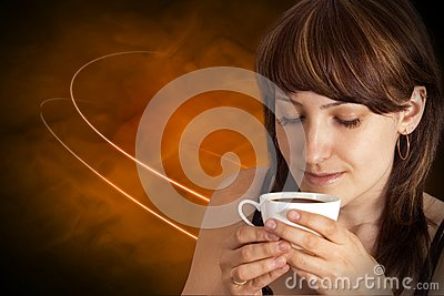 Beautiful Woman With Coffee