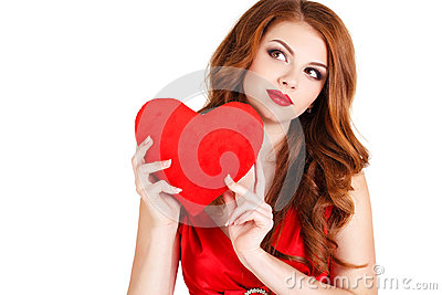 https://thumbs.dreamstime.com/x/beautiful-woman-day-love-young-long-brown-hair-bright-makeup-brown-eyes-red-dress-big-red-heart-hands-48627903.jpg