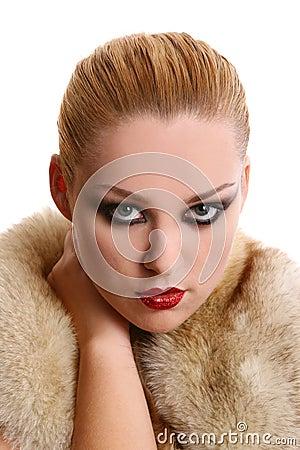 A beautiful woman in diva image