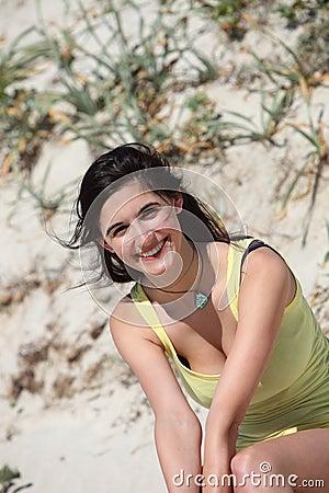 Beautiful woman enjoying the summer sun
