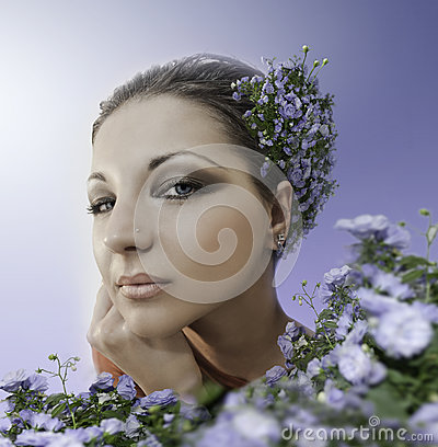 Beautiful woman face