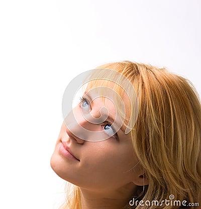 Blond facial hair
