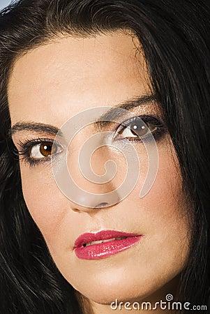 Beautiful woman face make up