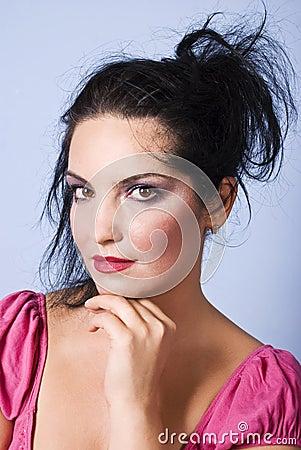 Beautiful woman face makeup