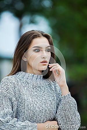 Free Beautiful Woman Face Portrait Beauty Skin Care Concept. Fashion Beauty Model Stock Photo - 135635930