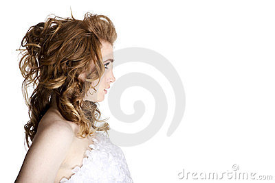 Beautiful woman face profile