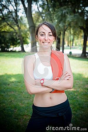 Beautiful woman fitness positive