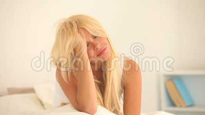 Beautiful woman having a headache Stock Photo