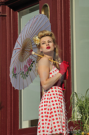 Beautiful woman holding an umbrella