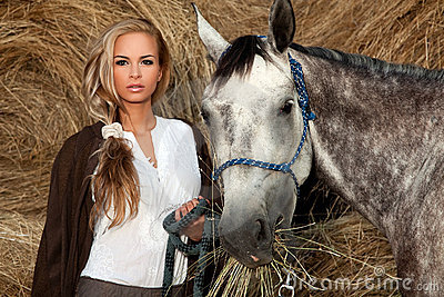 Beautiful Woman & Horse