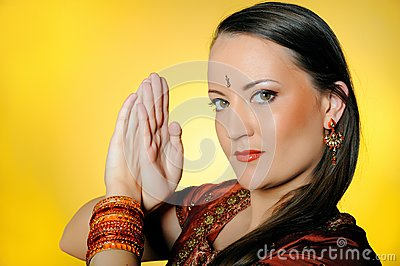 Beautiful woman in indian traditional style