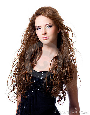 Beautiful woman with long hairs