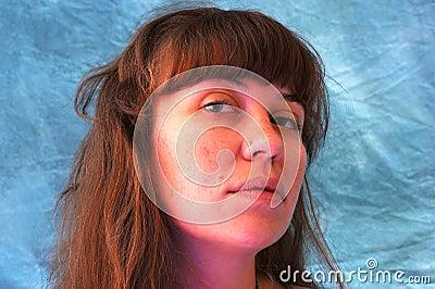 Beautiful woman looking serious