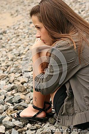Free Beautiful Woman Looking Serious Stock Image - 26690611