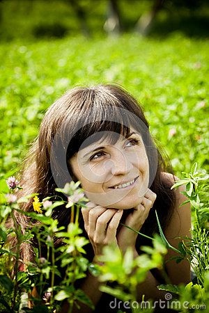 Beautiful Woman On The Meadow On A Warm Summer Day Royalty Free Stock Photography - Image: 25820697