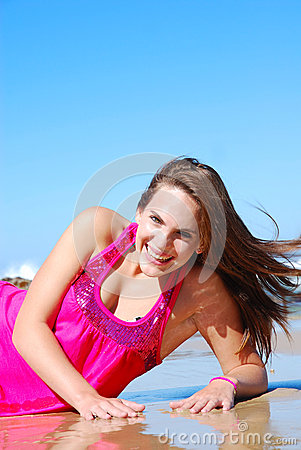 Free Beautiful Woman On Beach Royalty Free Stock Photos - 44060618