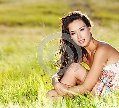 Free Beautiful Woman On The Nature Stock Photo - 15413680