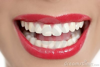 Beautiful woman perfect teeth smile