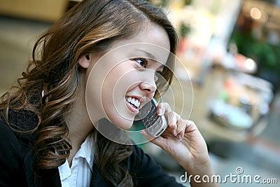 Beautiful Woman on the Phone