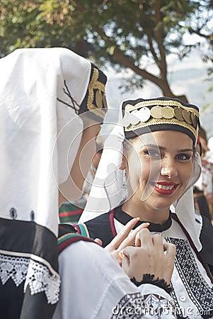Beautiful woman of Poland folk group Editorial Photography