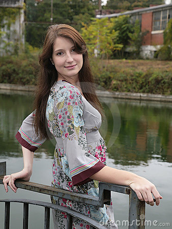 Beautiful woman portrait outdoors