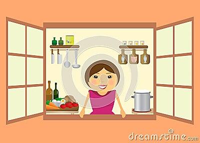Beautiful woman preparing to eat