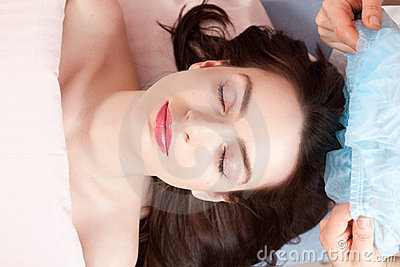 Beautiful woman with ready for beauty treatment