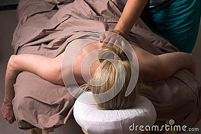 Beautiful Woman Receiving Massage 48