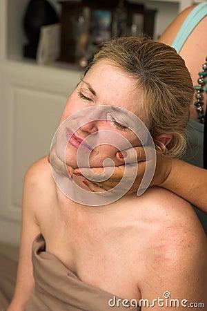 Beautiful Woman Receiving Massage 74