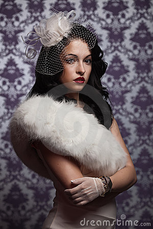 Free Beautiful Woman.Retro Styled Soft Portrait Royalty Free Stock Images - 21928789