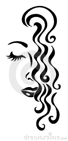 Beautiful woman s face - illustration