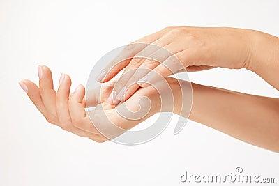 Beautiful woman s hands