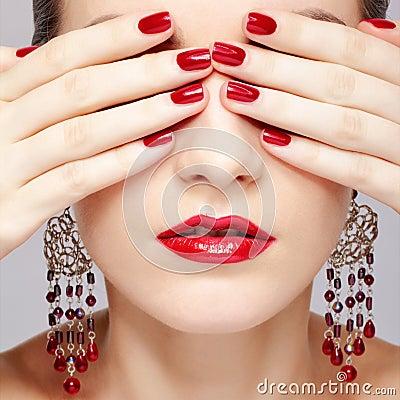 Beautiful woman s manicure