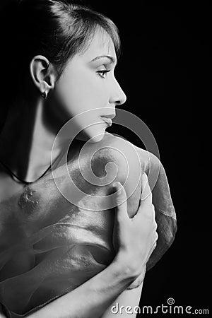 Beautiful woman s profile
