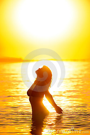Beautiful woman s silhouette