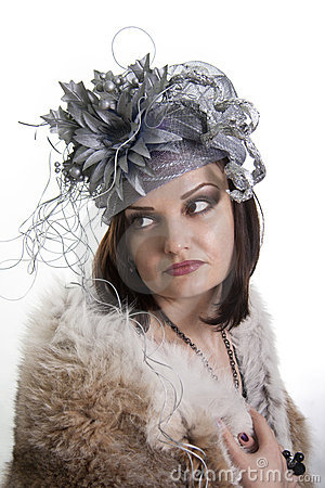 Beautiful woman  sad.
