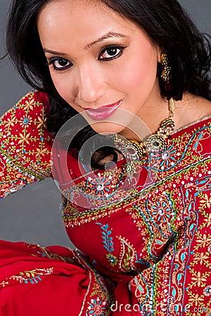 Beautiful woman in a sari