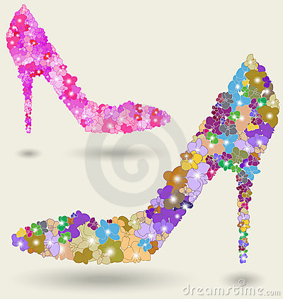 Beautiful woman shoe