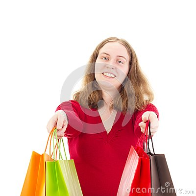 Beautiful woman on shopping tour