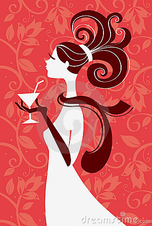 Free Beautiful Woman Silhouette Royalty Free Stock Photo - 10349705