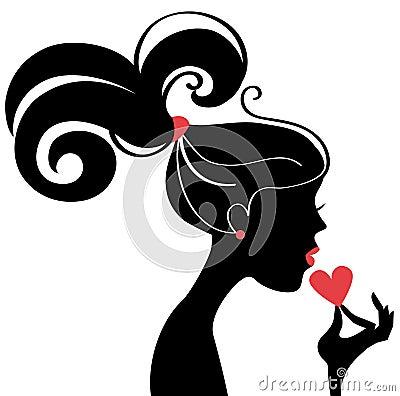 Beautiful Woman Profile Facebook Profile Picture Silhouette Female